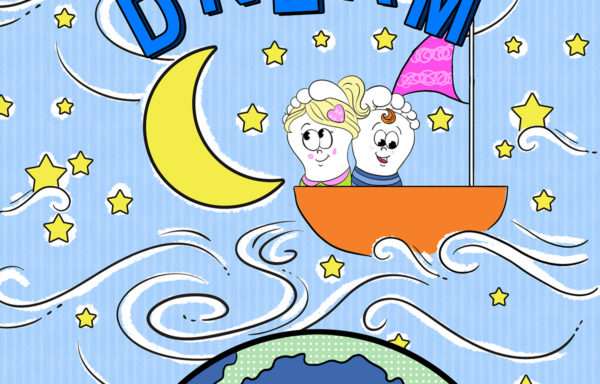 Canvas Wall Hanging – Dream 6″x6″